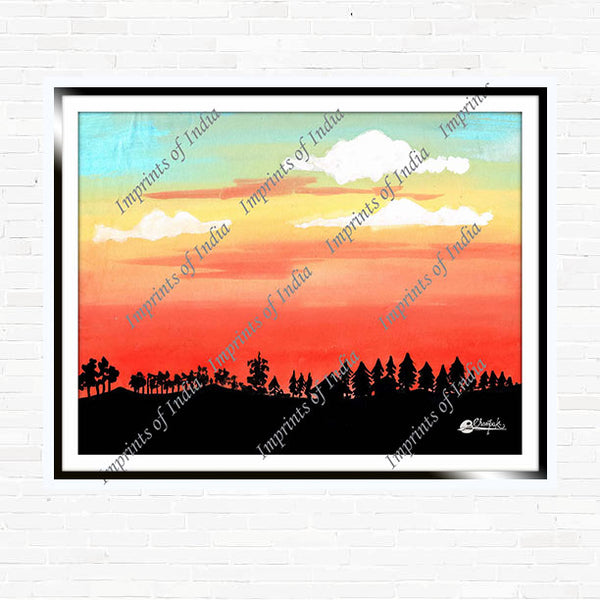 Sunset - Classic Artwork, Art Print, Canvas Print, Home Decor, Wall Art