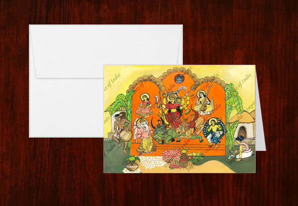 Durga Greeting Card