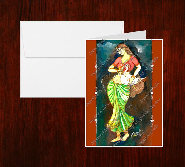Damayanti Greeting Card