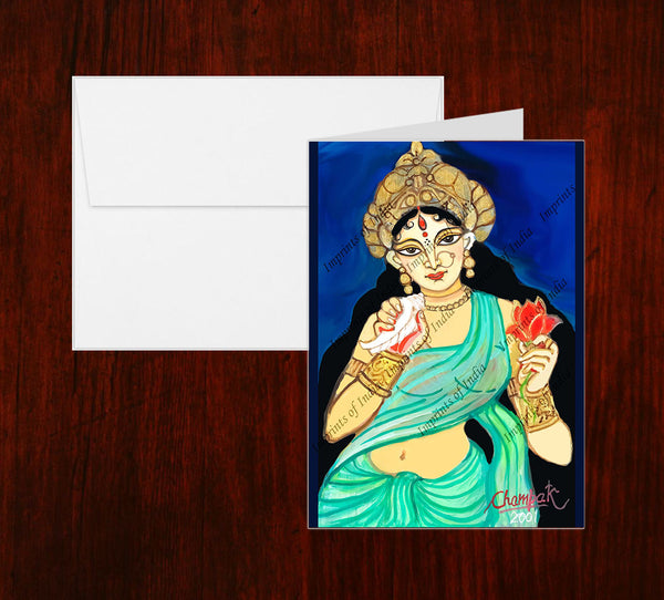 Maa Goddess Greeting Card
