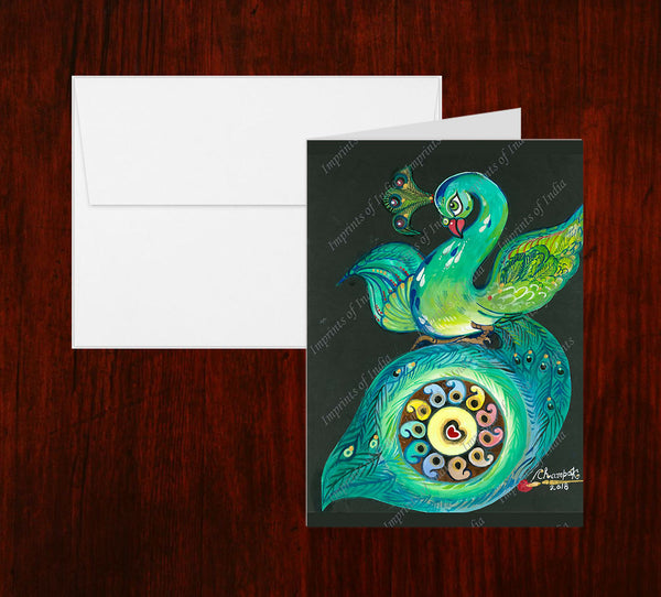 Peacock 1 Greeting Card