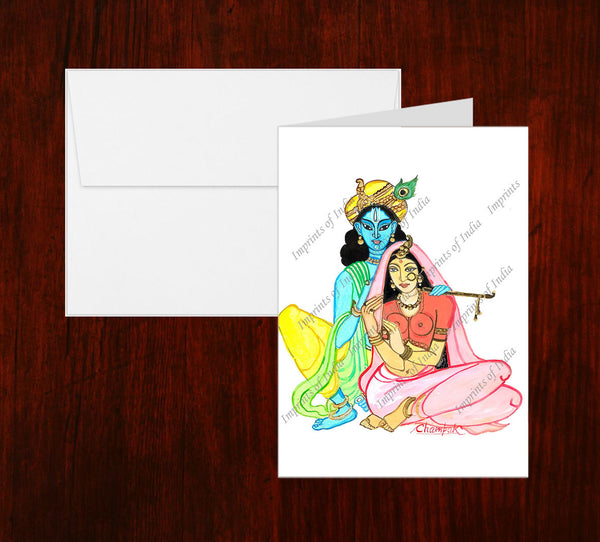 Krishna and Holi Greeting Card