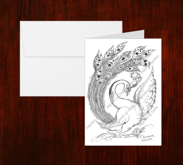 Peacock 2 Greeting Card