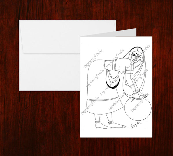 Women in Sketch Greeting Card