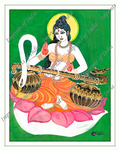 Saraswati, the Hindu goddess of knowledge, music, arts, wisdom and nature