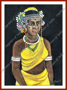 Tribal girl. The Tribe shown here is the Maria Tribe from Central India.