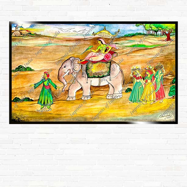 The Royal Procession - Classic Artwork, Art Print, Canvas Print, Home Decor, Wall Art