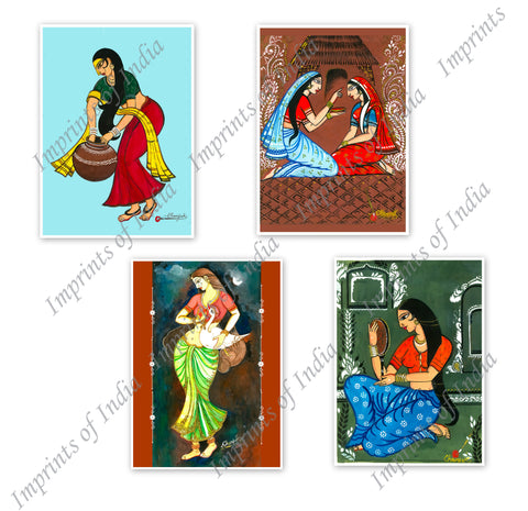 Indian Women Greeting Card Set