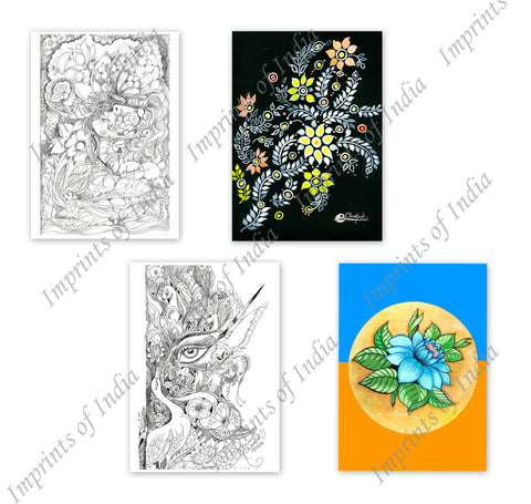Flower Greeting Card Set