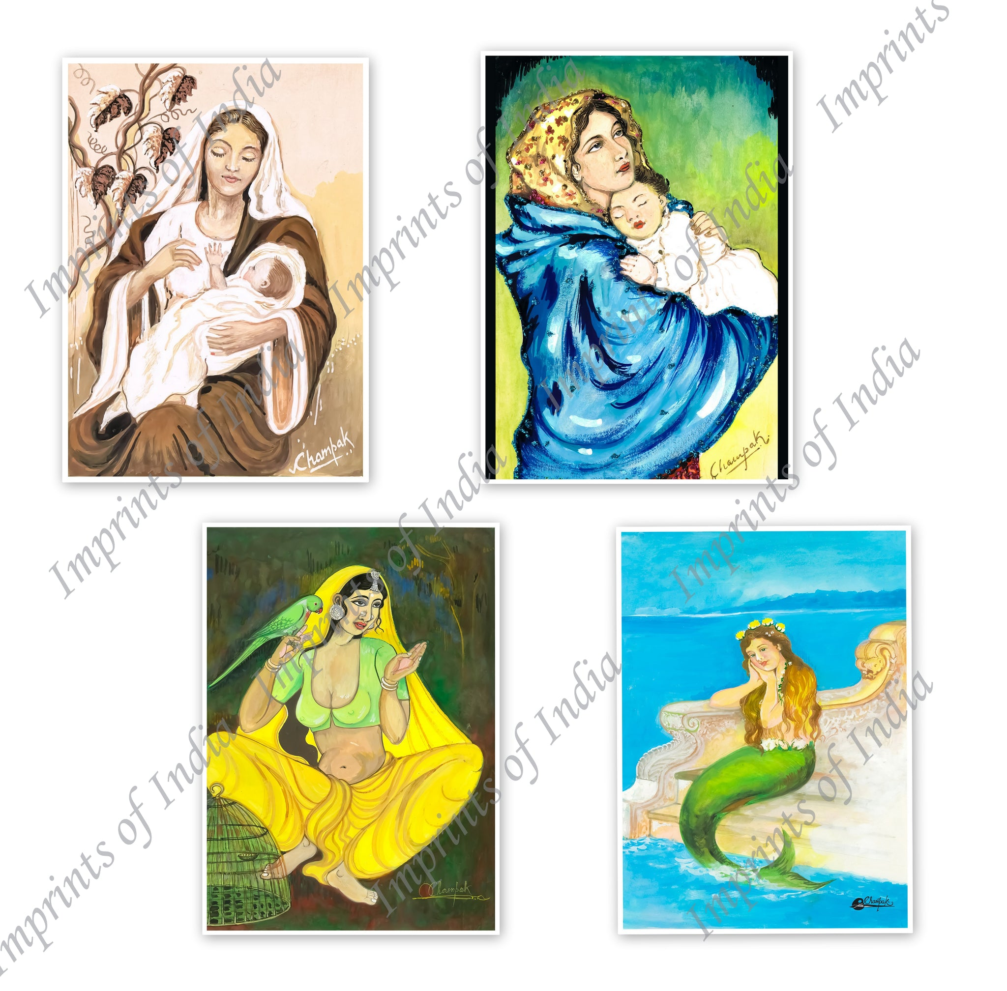 Women Greeting Card Set