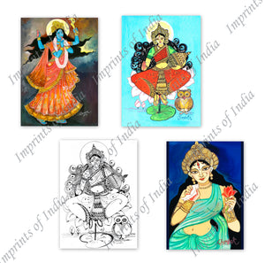 Maa Goddess Greeting Card Set