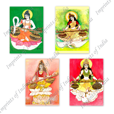 Saraswati Greeting Card Set