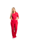 Ruby Mock Neck Scrub Set