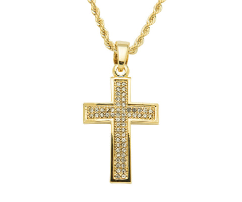 Raised Iced Out Cross