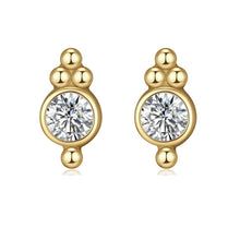 Load image into Gallery viewer, PENDIENTES MINI CIRCONITA BOLAS ORO - DRAMMAS