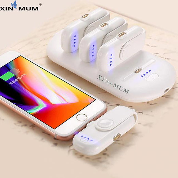 XIN-MUM Pad Fingerpow 5 Charging Packs Powerbank Magnetic attraction Power Bank