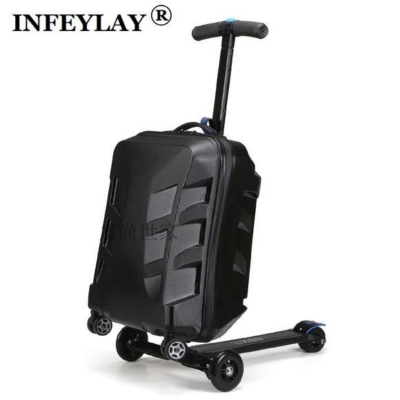 High quality 21 inches boy scooter suitcase trolley case