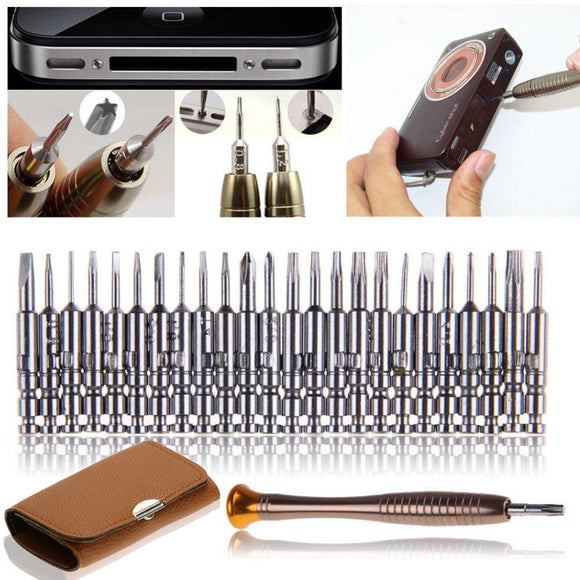Mini Precision Screwdriver Set of 25 for iPhone, Camera, Watch, Tablet, PC