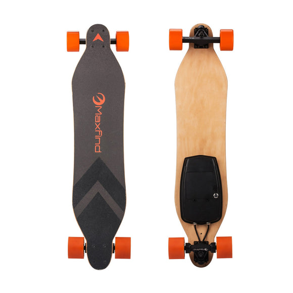 Max A - Electric Skateboard with Dual Hub Motor,World's Most Portable Longboard