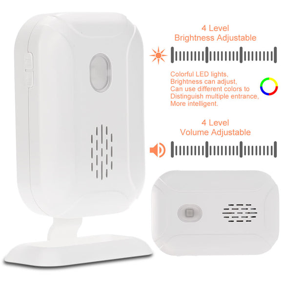 Wireless Split Welcome Guest Doorbell Motion Detection PIR Sensor Alarm System