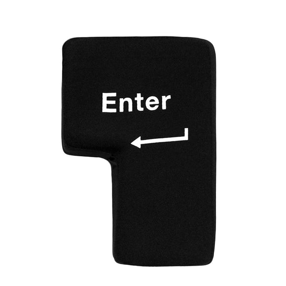 Big Enter Soft Key, Computer Return Button Key, Pillow, Stress reliever