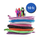 Extra Long (10 Ft) Fiber Charge USB Android Cable - Assorted Colors