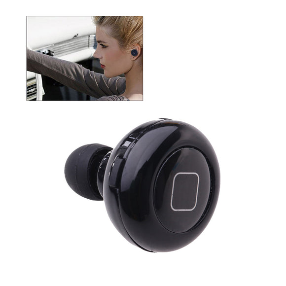 Mini Wireless Bluetooth 4.0 Stereo Earphone Earpiece Headset (Black)