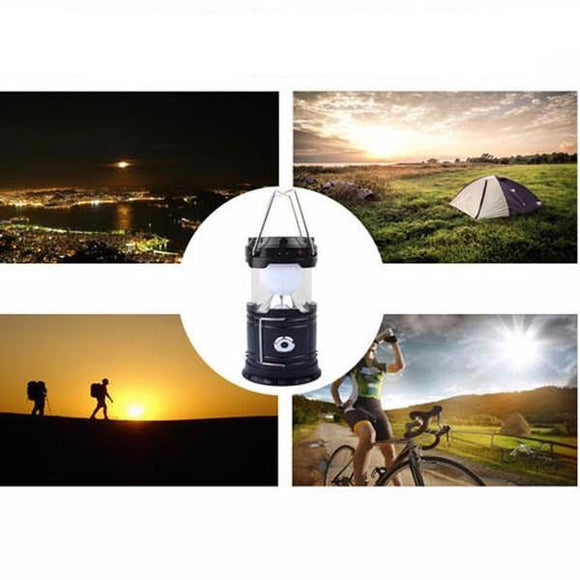 Solar Outdoor Led Camping Light With Portable Charging Power Bank