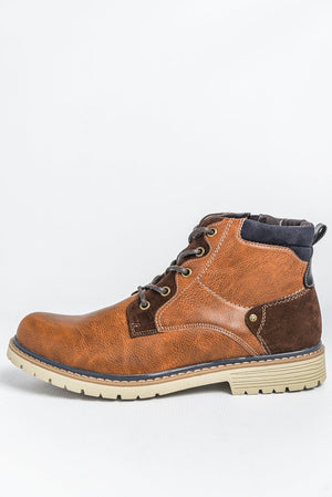 Charles Southwell Casual Walking Style Boots - Dark Tan