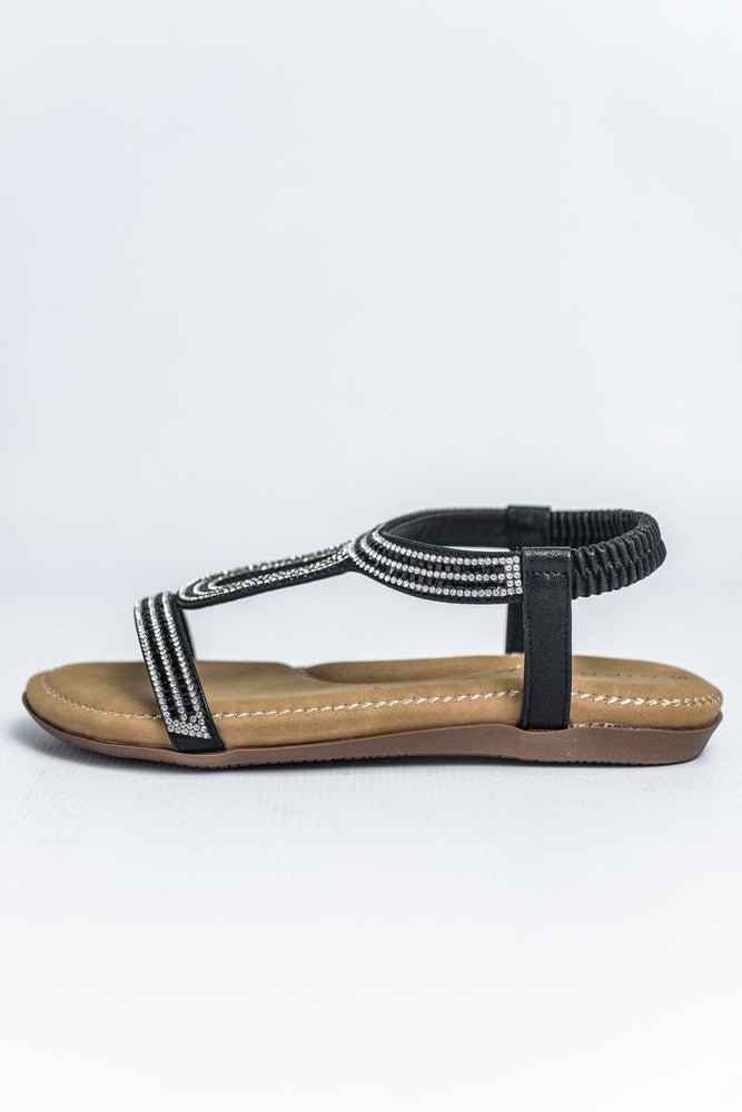 Cipriata Diamante Halter Back Sandal - Black