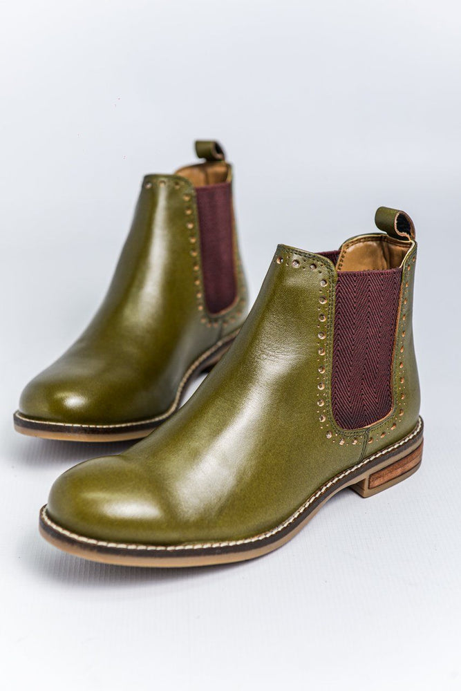 Cipriata Leather Chelsea Boots - Olive