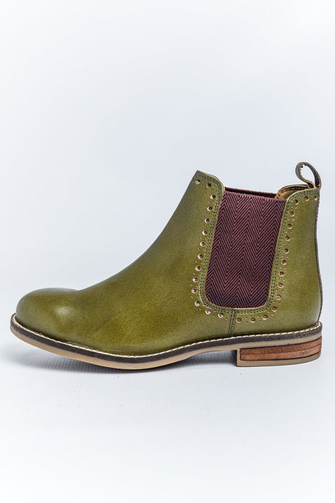 Load image into Gallery viewer, Cipriata Leather Chelsea Boots - Olive