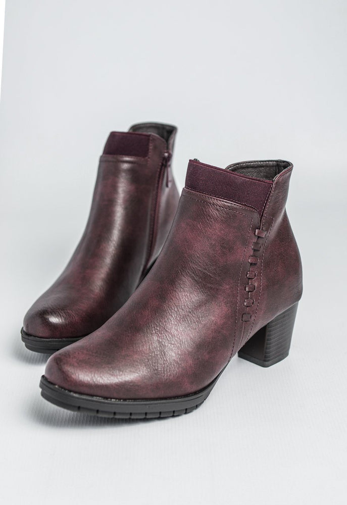 Cipriata Memory Foam Ankle Boot - Burgundy