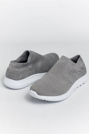 Cipriata Sparkle Slip-on Trainers - Silver
