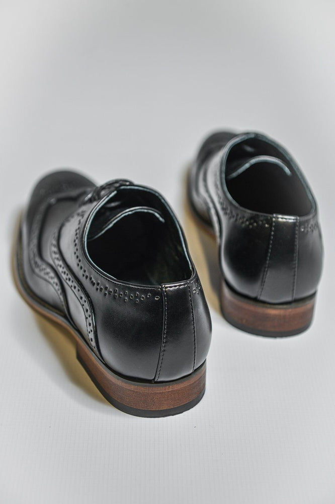 Load image into Gallery viewer, Goor Black Oxford Brogue Shoes