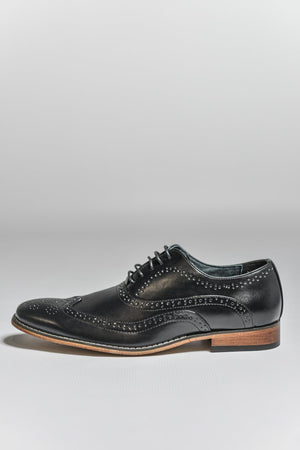 Load image into Gallery viewer, Goor Black Oxford Brogue Shoes Black UK 6