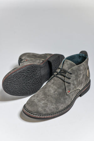 Load image into Gallery viewer, Goor Faux Nubuck Desert Boots - Grey