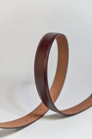 Load image into Gallery viewer, IBEX Stitched Edge Leather Belt - Burgundy