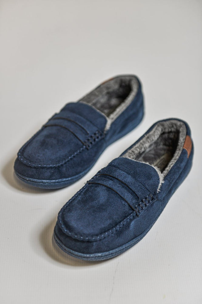 Jo & Joe New Hampshire Moccasin Slippers - Navy