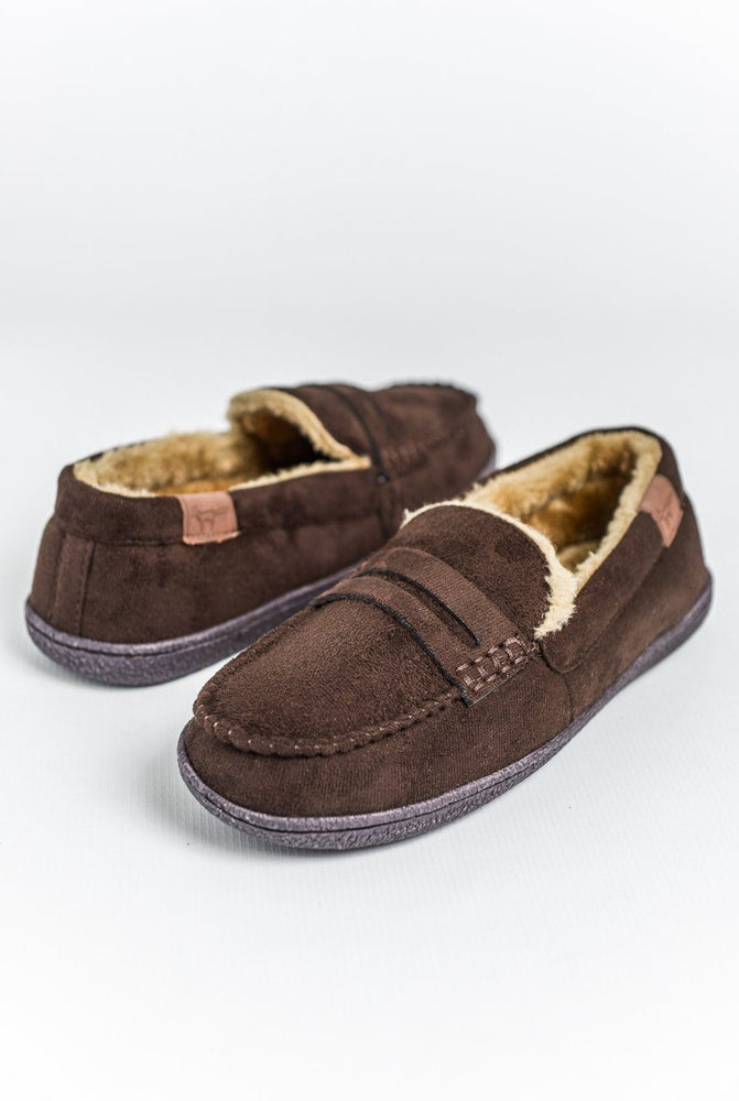 Jo & Joe New Hampshire Moccasin Slippers - Brown