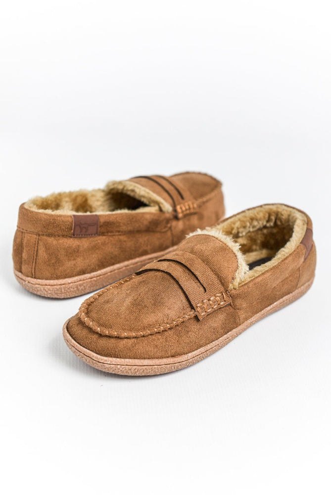 Jo & Joe New Hampshire Moccasin Slippers - Cognac