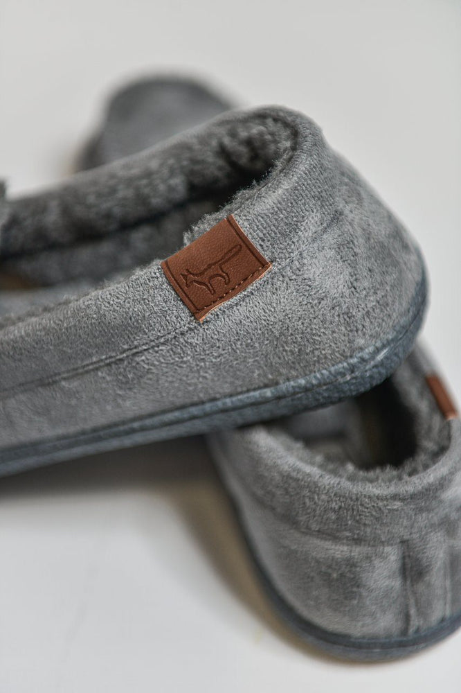 Load image into Gallery viewer, Jo & Joe New Hampshire Moccasin Slippers - Grey