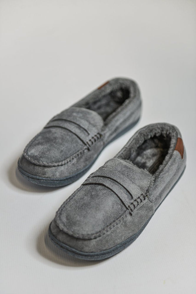 Jo & Joe New Hampshire Moccasin Slippers - Grey