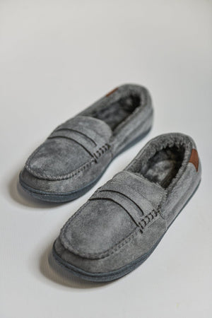 Load image into Gallery viewer, Jo & Joe New Hampshire Moccasin Slippers - Grey Grey UK 8