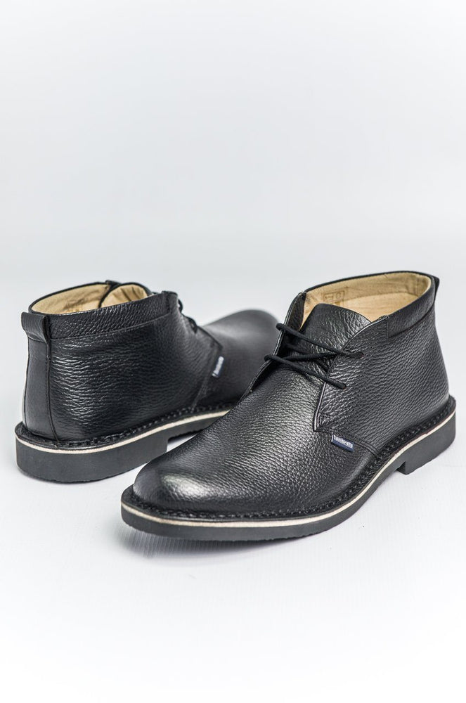 Lambretta Leather Desert Boots - Black