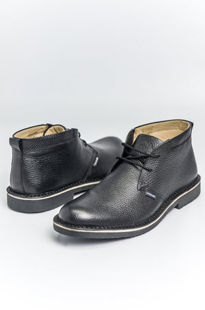 Load image into Gallery viewer, Lambretta Leather Desert Boots - Black