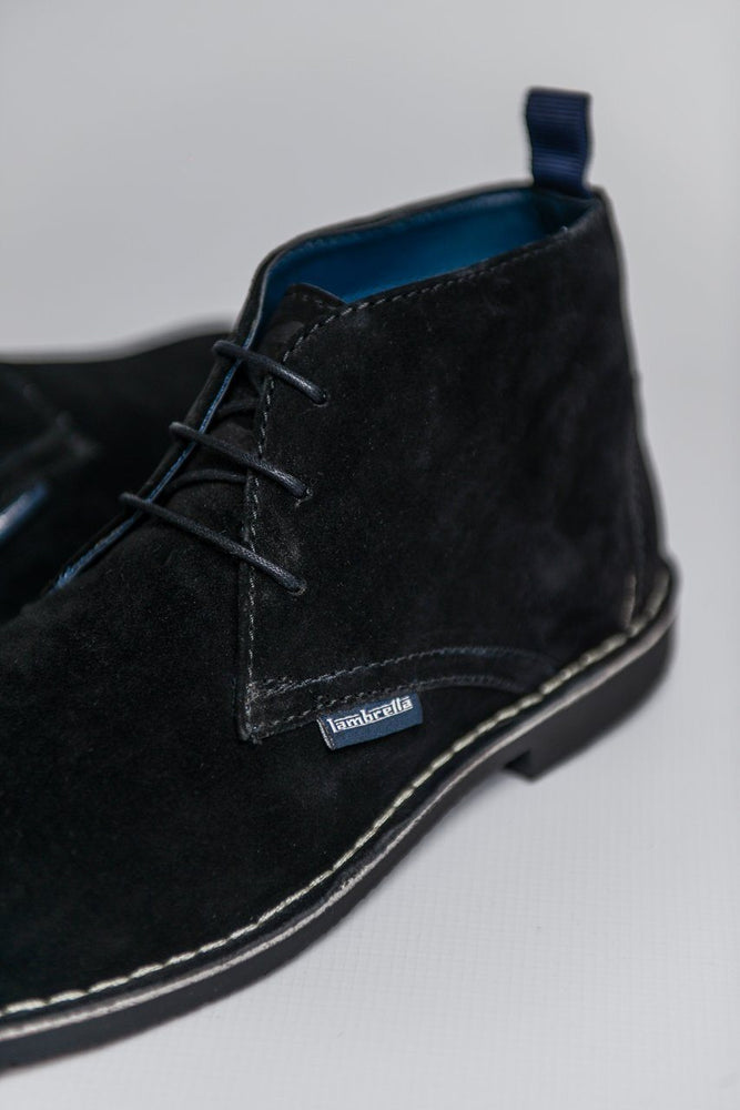 Load image into Gallery viewer, Lambretta Suede Desert Boots - Black