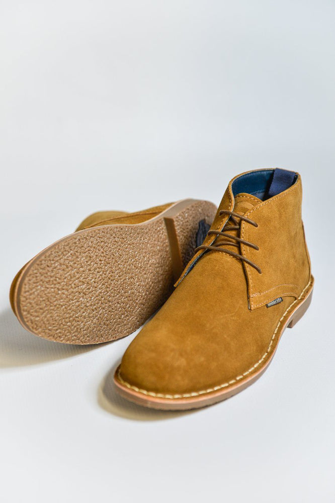 Load image into Gallery viewer, Lambretta Suede Desert Boots - Sand