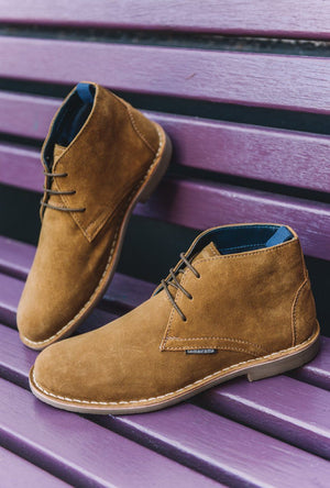 Load image into Gallery viewer, Lambretta Suede Desert Boots - Sand Sand UK 6