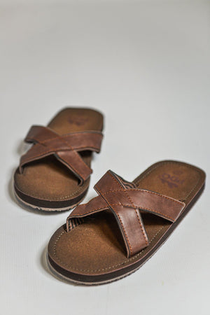 Load image into Gallery viewer, PDQ Crossover Flip Flop Sandals